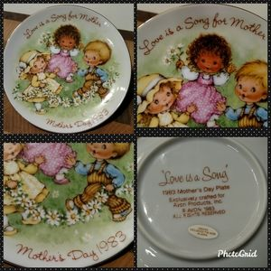 "🌼1983 Avon ""Love is a Song"" Mother's Day Plate🌼"